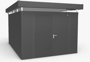 Biohort Záhradný domček BIOHORT CasaNova DUO 330 x 430 (tmavo sivá metalíza) orientace dverí vľavo
