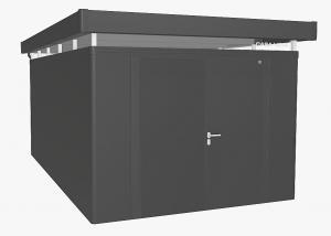 Biohort Záhradný domček BIOHORT CasaNova DUO 330 x 530 (tmavo sivá metalíza) orientace dverí vľavo