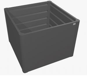Biohort Zvýšený truhlík na zeleninu 1 x 1 (tmavo sivá metalíza) 1 x 1 (2 krabice)