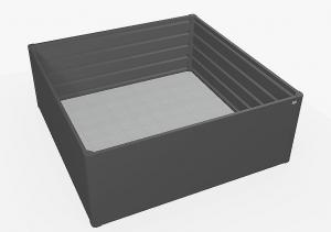 Biohort Zvýšený truhlík na zeleninu 2 x 2 (tmavo sivá metalíza) 2 x 2 (2 krabice)