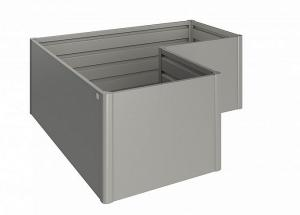 Biohort Zvýšený truhlík na zeleninu L (sivý kremeň metalíza) L (4 škatule)