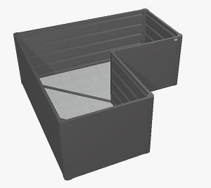 Biohort Zvýšený truhlík na zeleninu L (tmavo sivá metalíza) L (4 škatule)