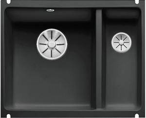 BLANCO SUBLINE 350/150-U keramika čierna