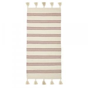 Bloomingville Bavlnený koberček Red Stripe 60x120 cm