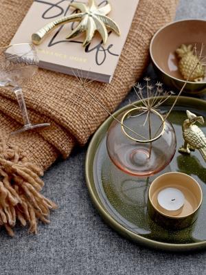 Bloomingville Dekoratívna zlatá palma Summer Relax