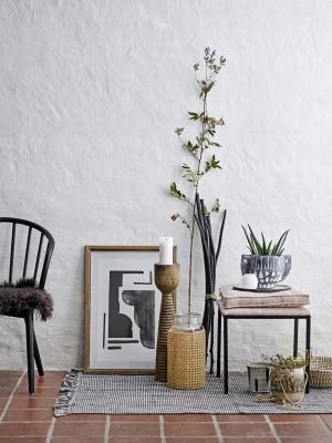 Bloomingville Keramický obal na kvetináč Blue Stripe – väčší