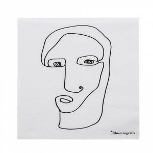 Bloomingville Papierové obrúsky Monarch's Face 20 ks