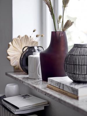Bloomingville Sklenená váza Anda Brown