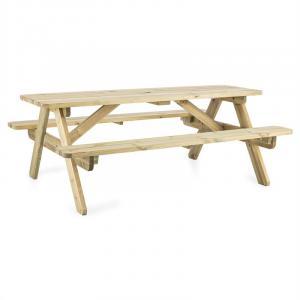 Blumfeldt Picknicker 180, piknikový stôl, záhradný set, 32 mm, borovicové drevo