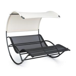 Blumfeldt The Big Easy, hojdacie ležadlo, nepremokavé, 350 kg max., UV ochrana, čierne