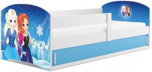 BMS Detská obrázková posteľ LUKI 1 / BIELA Obrázok: Snow