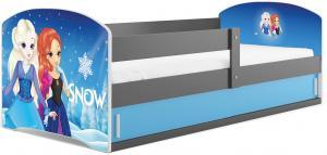 BMS Detská obrázková posteľ LUKI 1 /SIVÁ Obrázok: Snow