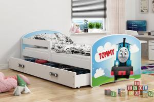 BMS Detská obrázková posteľ Luki / biela Obrázok: Tommy