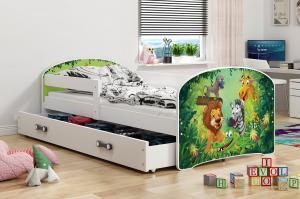 BMS Detská obrázková posteľ Luki / biela Obrázok: ZOO