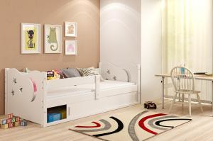 BMS Detská posteľ Mikolaj 1 | BIELA 160x80 cm Farba: biela / ružová