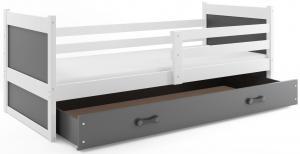 BMS Detská posteľ RICO 1 / BIELA 200x90 Farba: Sivá