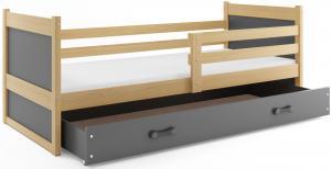 BMS Detská posteľ RICO 1 / BOROVICA 200x90 Farba: Biela