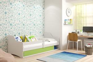 BMS Detská posteľ Sofix 1 Farba: biela / sivá