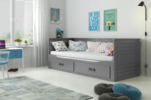 BMS group Detská posteľ Hermes FARBA: Grafit
