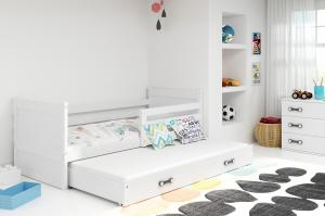 BMS group Detská posteľ RICO2 190/dvojlôžko FARBA KONŠTRUKCIE: Grafit, DOPLNKOVÁ FARBA: Zelená