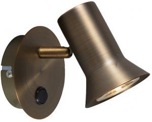 Bodové svietidlo z bronzu otočné a sklopné s vypínačom - Karin 1