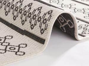 Bougari - Hanse Home koberce AKCE: 80x150 cm Kusový koberec Twin Supreme 103761 Black/Cream - 80x150 cm