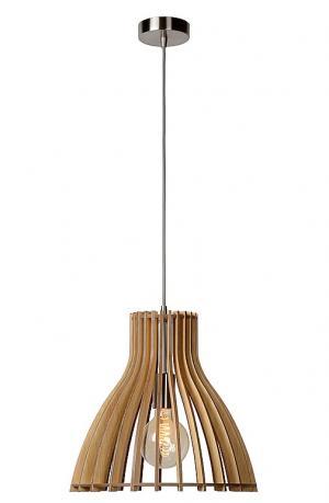 BOUNDE - Pendant light - Ø 35 cm - Light wood