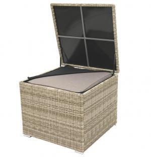 Box na podušky SEVILLA 82x82x72 cm (béžová)