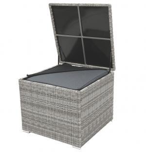 Box na podušky SEVILLA 82x82x72 cm (sivá)