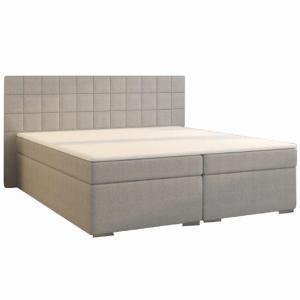 Boxspringová posteľ, 160x200, sivá, NAPOLI KOMFORT