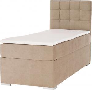 Boxspringová posteľ, jednolôžko, svetlohnedá, 80x200, pravá, DANY