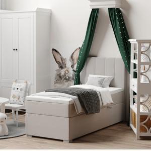 Boxspringová posteľ, jednolôžko, taupe, 80x200, pravá, BRED
