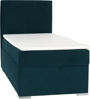 Boxspringová posteľ, jednolôžko, zelená, 90x200, ľavá, SAFRA