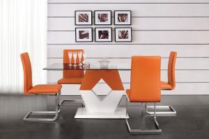 Bradop Jedálenský stôl Valy 160x90, MDF + sklo S90