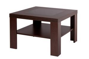 Bradop Konferenčný stolík ALOIS, štvorcový, sklo a police K114