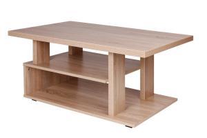 Bradop Konferenčný stolík ARTUR, obdĺžnik, police a podstavec K120