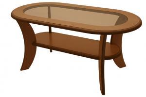 Bradop Konferenčný stolík IGNÁC, oválny, MDF + sklo K51