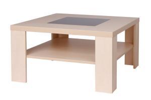 Bradop Konferenčný stolík TOBIAS, štvorcový, sklo čierne K105