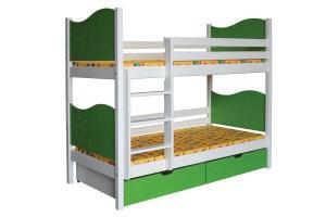 Poschodová posteľ NICOLAS (základné prevedenie) B412-80x180