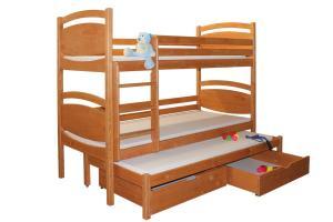 Bradop Poschodová posteľ, trojpostel Davídek B409-90x200