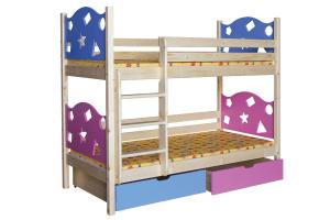 Poschodová posteľ VALENTÍN (základné prevedenie) B413-80x180