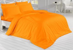 Brotex Obliečky Satén 140x220/70x90cm oranžové