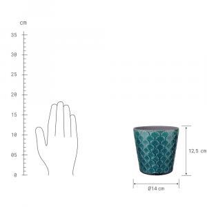 Butlers ARIELLE ARIELE Kvetináč 14 cm - petrolejová