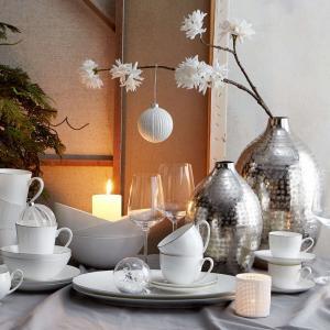 Butlers INDIRA Váza poniklovaný hliník 35 cm