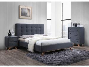 Byvajsnami SK, MELISA čalúnená posteľ, šedá