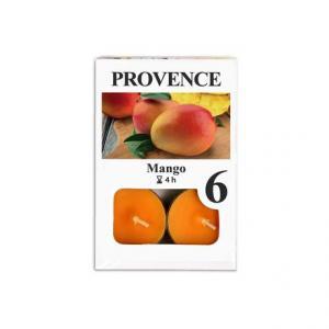 Čajová sviečka PROVENCE 6ks mango