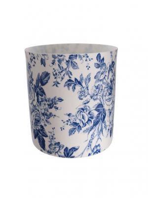 Čajový svietnik porcelánový Dahlia, 9 cm, biela/modrá