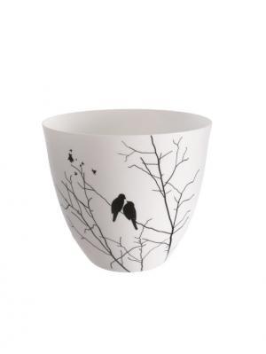 Čajový svietnik porcelánový Porslin, 9 cm, biela/čierna
