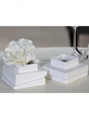 Čajový svietnik / váza Blocks, 2 ks, biela