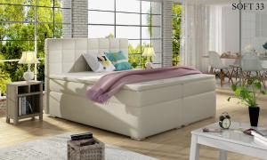 Čalouněná postel ALICE Boxsprings 140 x 200 cm Provedení: Soft 33